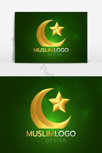 elemento gráfico de vector logo musulmán Elementos graficos Modelo EPS