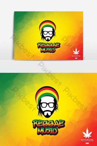 elemento gráfico de vector de icono de música reggae Elementos graficos Modelo EPS