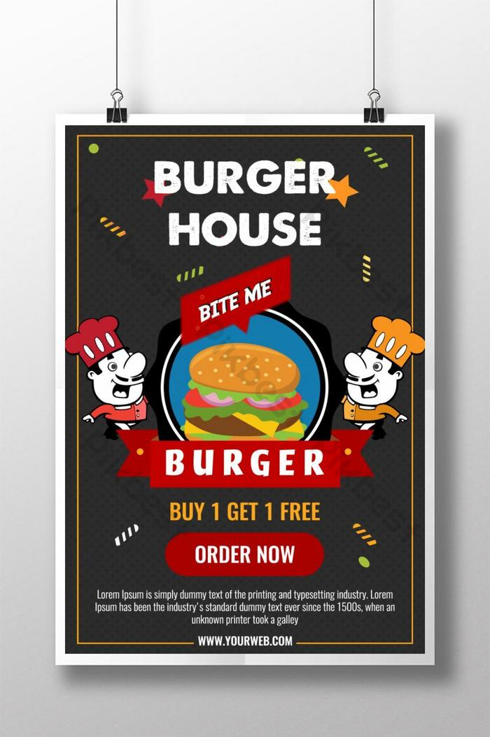 Modern Burger Restaurant Poster Ai Free Download Pikbest