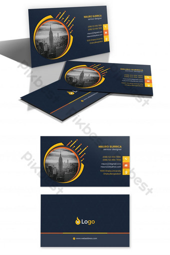 Modèle de conception de carte de visite créative moderne Modèle PSD