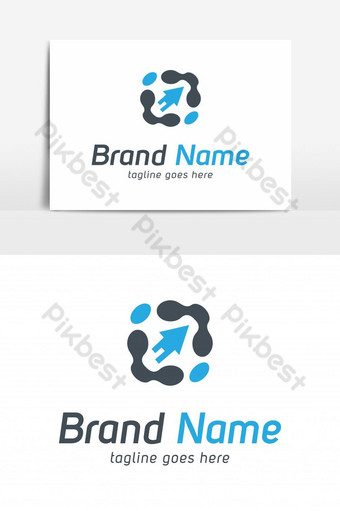 elemento gráfico de vector de logotipo de flecha de tecnología Elementos graficos Modelo EPS
