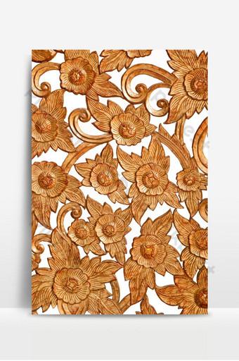 Patrón de rosa tallada sobre fondo de madera Fondos Modelo PSD