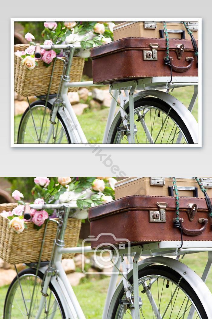 가방 빈티지 자전거