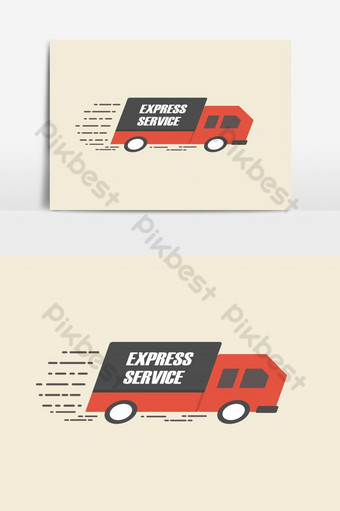 Fast Delivery or Express Service Vector Graphic Element PNG Images Template EPS