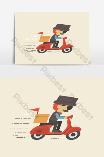 Fast Delivery or Take-out Service Vector Graphic Element PNG Images Template EPS