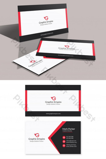 Modèle PSD de carte de visite d'entreprise Modèle PSD