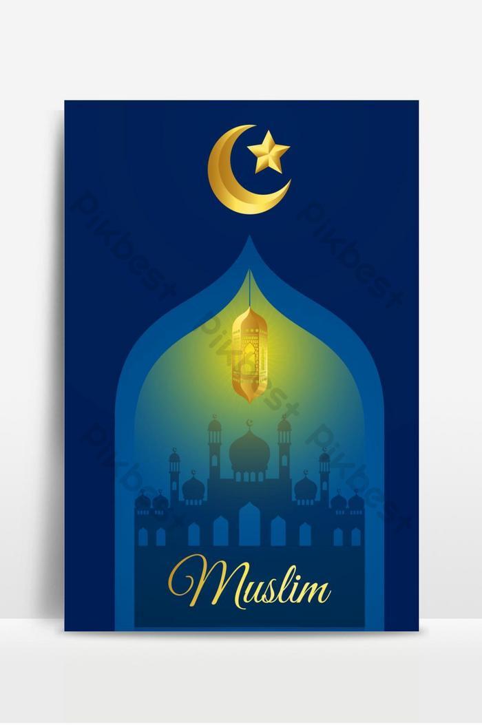 illustrazione vettoriale di eid mubarak design biglietto di auguri vacanza islamica 2