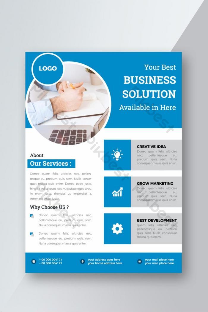 business solution flyer corporate formal design