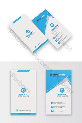 Carte de visite de style vertical bleu Modèle PSD