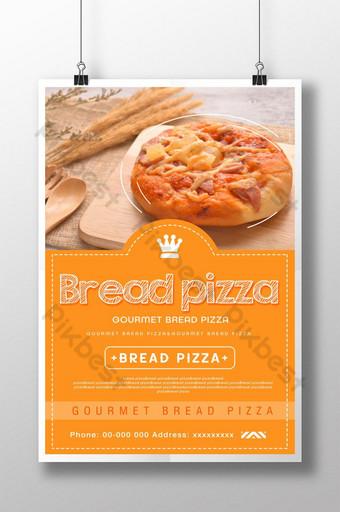diseño de cartel de pizza de sol de estilo simple Modelo PSD