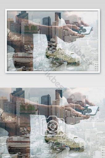 conceito de tecnologia de comunicação Fotografia Modelo JPG