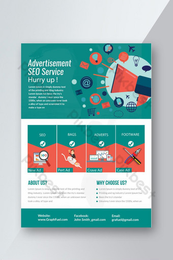 SEO Service Providers Business Flyer Template PSD