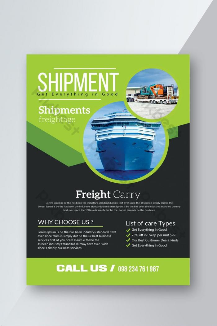 business freight and shipment flyer