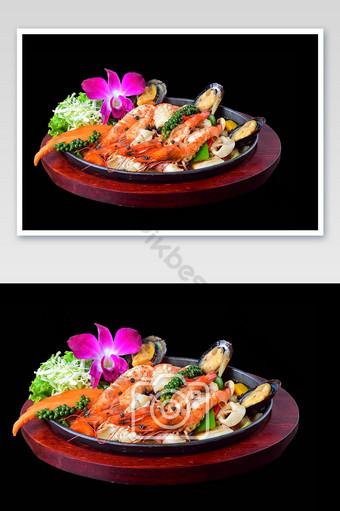 spicy seafood salad Photo Template JPG