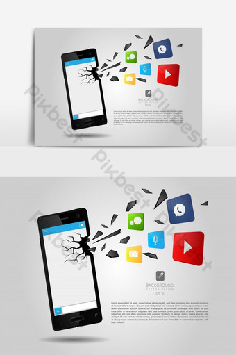 Fast E-mail Sent from a Smartphone PNG Images Template EPS