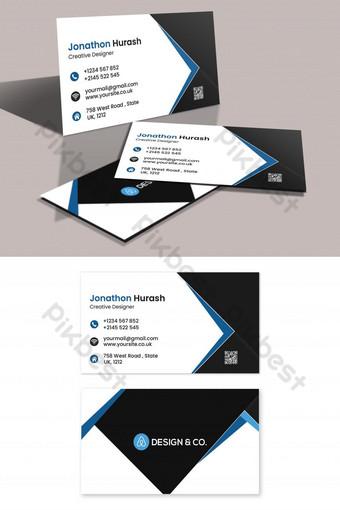 Conception de cartes de visite d'entreprise Modèle PSD