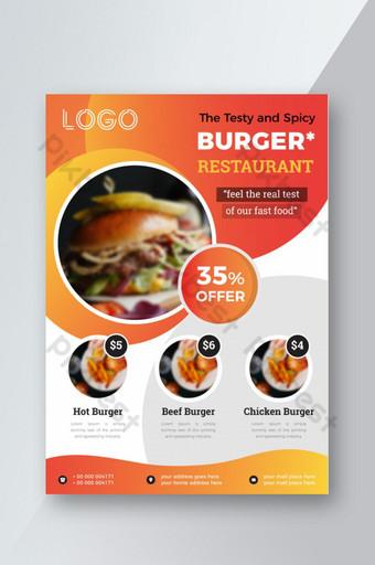 conception de flyer de restauration rapide avec offre Modèle AI
