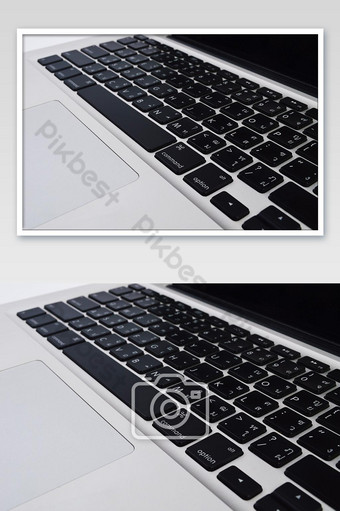 conceito de tecnologia computador portátil com fundo de conexão de símbolo industrial Fotografia Modelo JPG