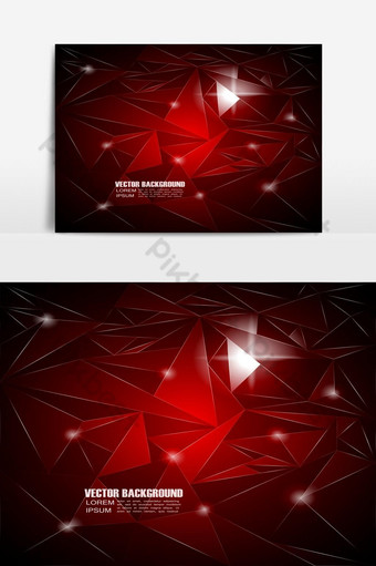 Fondo geométrico rojo abstracto con bokeh Elementos graficos Modelo EPS