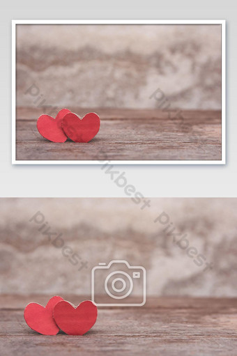 fondo del día de san valentín con foto del festival del corazón rojo Fotografía Modelo JPG