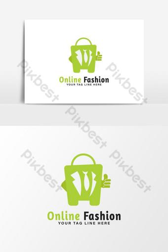 logo de tienda de moda online Elementos graficos Modelo AI