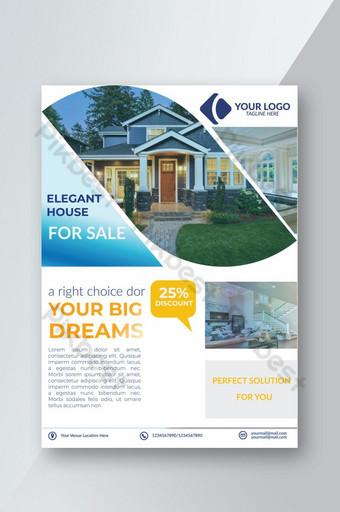 folleto de bienes raíces simple y elegante Modelo AI