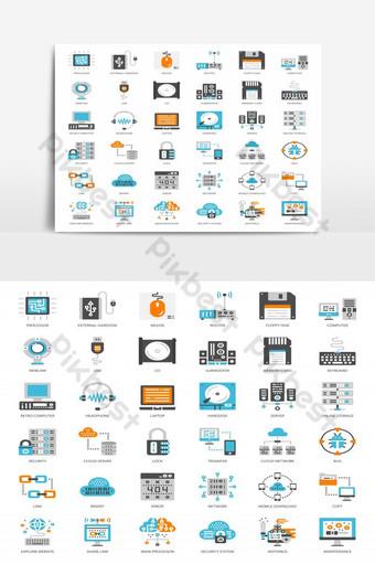 sobre el elemento gráfico de vector de paquete de icono plano de computadora Elementos graficos Modelo EPS