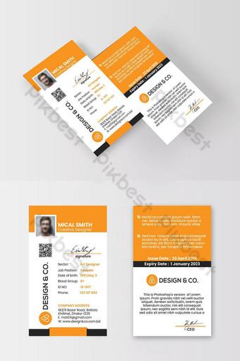 Conception de carte d'identité Carte d'identité d'entreprise Modèle PSD
