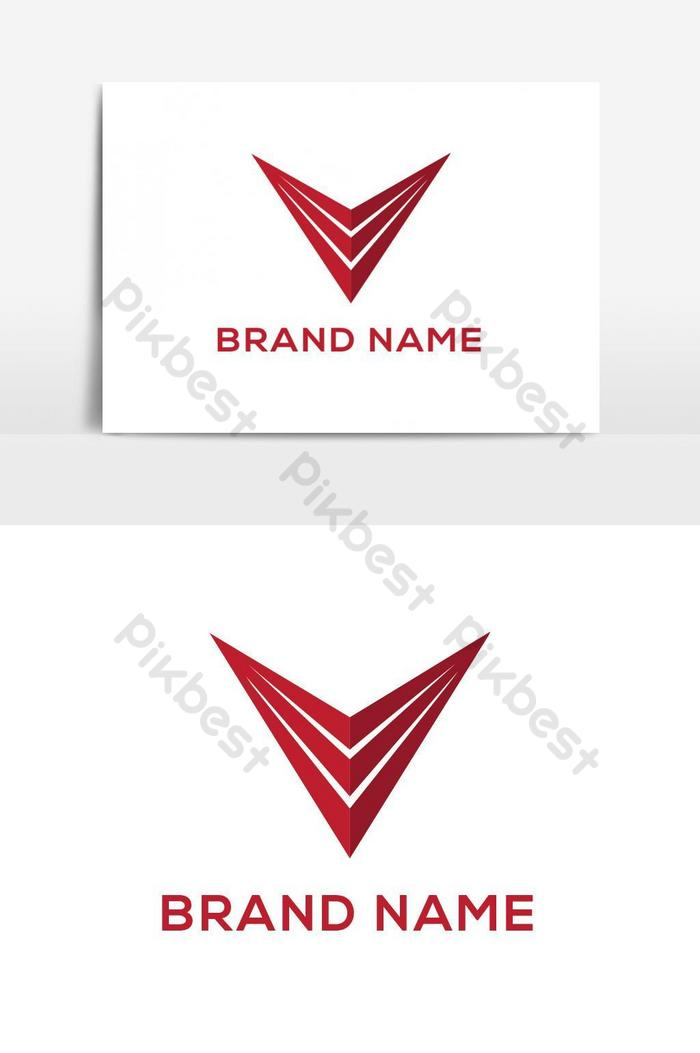 Ícone de vetor de logotipo de letra v