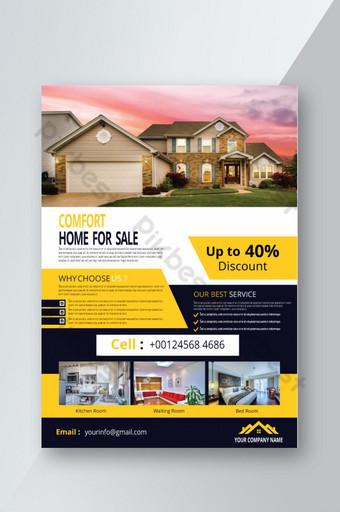Flyer de vente immobilière promotionnelle Modèle AI