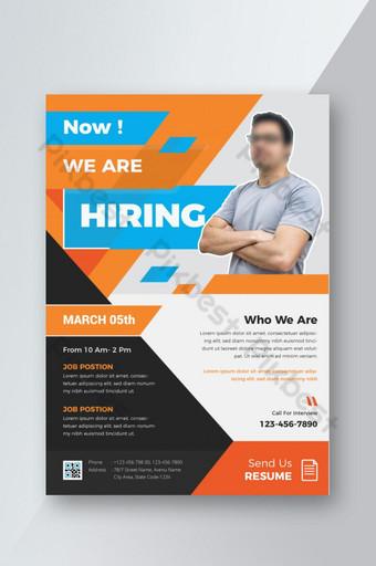 Dépliant sur le recrutement et les postes vacants Modèle AI