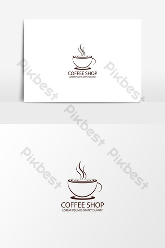icono del logotipo de la tienda de café Elementos graficos Modelo AI