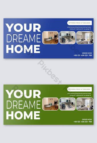 facebook meliputi template desain biru Templat PSD