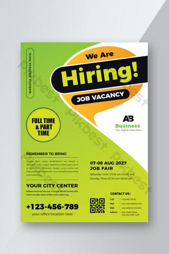 Dépliant de recrutement ou de poste vacant Modèle AI