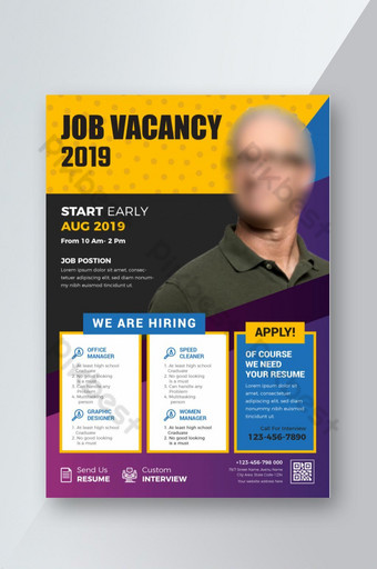 Dépliant de recrutement Modèle AI