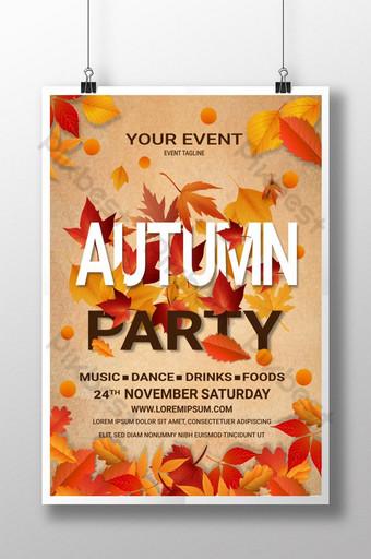 Affiche d'événement de fête d'automne Modèle AI