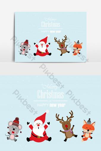 عيد ميلاد سعيد بطاقات المعايدة صور PNG قالب EPS