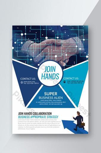 Flyer bleu de Creative Corporate Alliance Modèle PSD