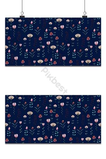 patrón sin costuras rosa flores silvestres de fondo Fondos Modelo EPS