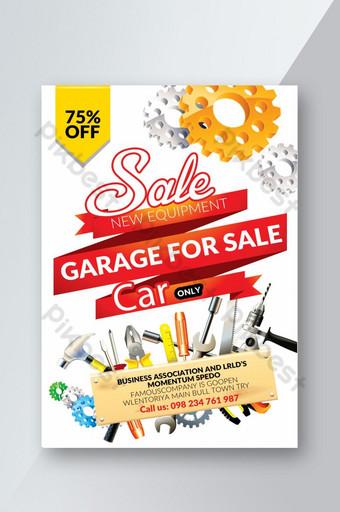 folleto de servicios de coche de garaje Modelo PSD