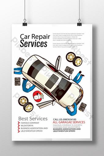 Car Repair Services Poster Template PSD