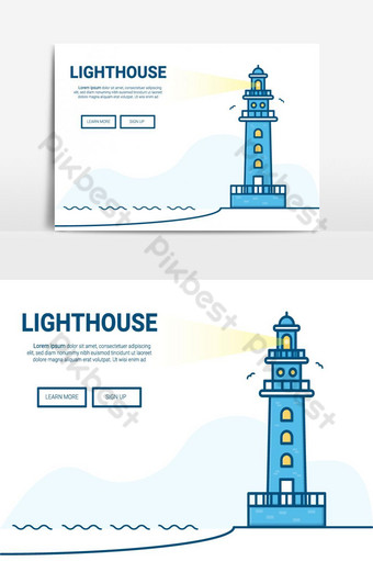 Lighthouse Vector Graphic Element PNG Images Template AI