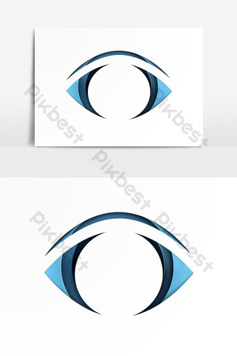 Searching for opportunities Business vision growth on eyes Vector Graphic Element PNG Images Template AI