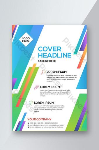 Design coloré de flyer d & # 39; affaires moderne Modèle AI