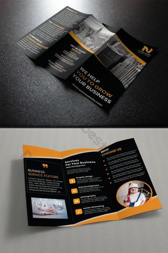 корпоративная брошюра trifold шаблон AI