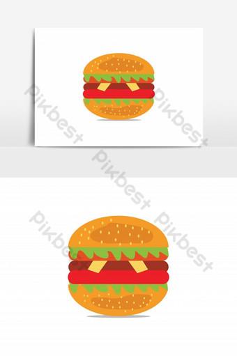 elemento gráfico de vector de hamburguesa realista Elementos graficos Modelo AI