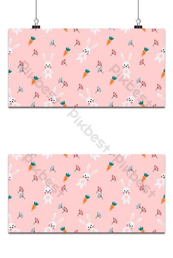 vector de patrones sin fisuras de lindo conejo blanco y fondo de zanahoria Fondos Modelo EPS