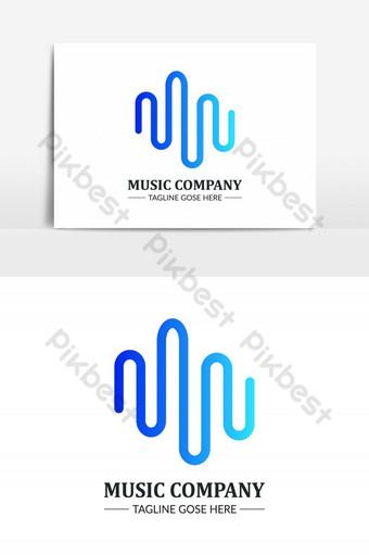 elemento gráfico de vector de logotipo de empresa de música creativa Elementos graficos Modelo PSD
