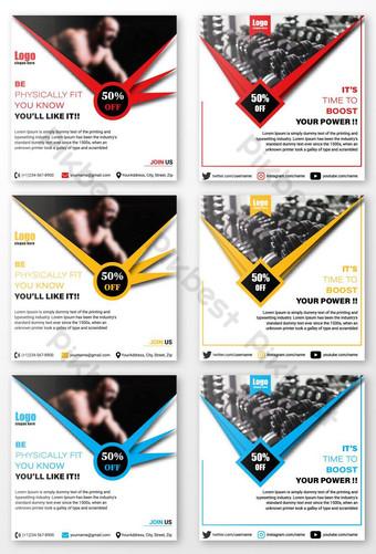 publicación de redes sociales del club de fitness Modelo AI