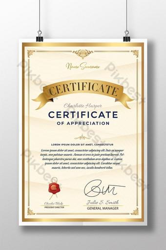 Affiche de certificat officiel Modèle AI